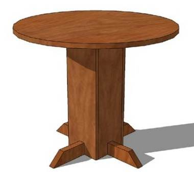 Pedestal Table Project