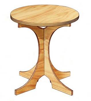 Knockdown End Table