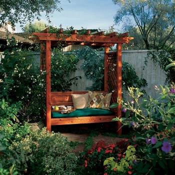 Arbor with a Bench