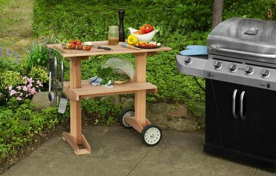 Rolling Grill Cart