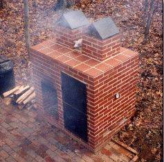 A Backyard Brick Barbecue