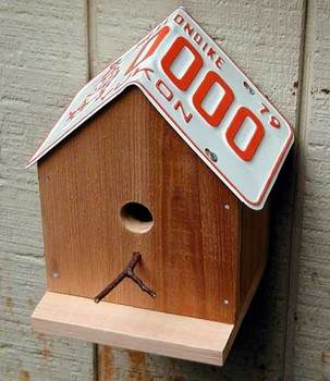 A License Plate Birdhouse