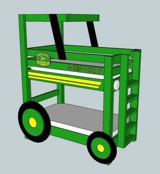 Kid's Beds - John Deere Bunk Bed Plans