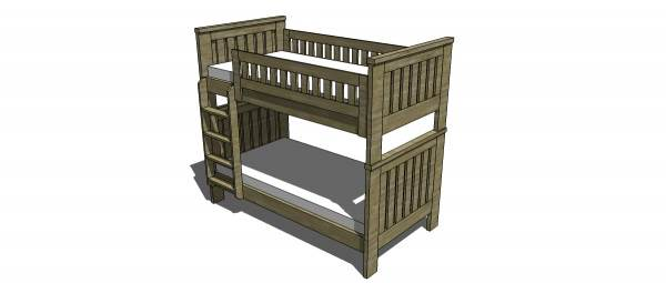 Bunk Bed Plans with Ladder