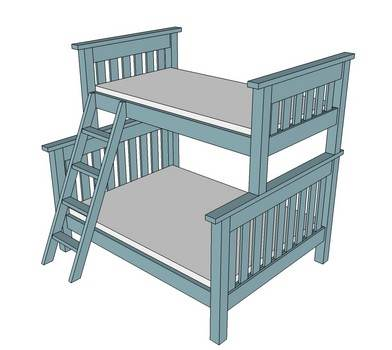 Double and Twin Bunk Bed Plans