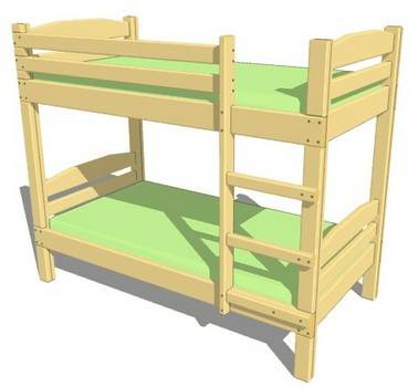 Bed Integrates Ladder For Safety