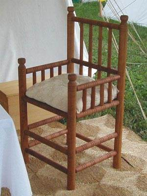 A Four Post Turned Chair