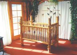 Build a Log Baby Crib