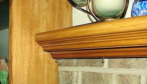 Pine Fireplace Mantel