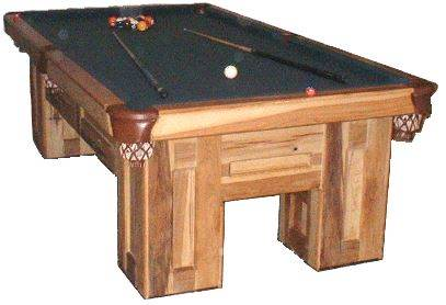 Hardwood Pool   Table