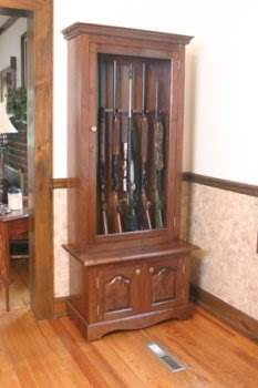 Gun Cabinet Plans - Gun Rack Plans at FreeWW.com