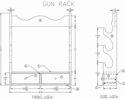 Gun cabinet plans gun rack plans at freeww build a wooden gun rack malvernweather Images