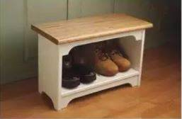 Boot Bench - DIY Mudroom Storage Bench
