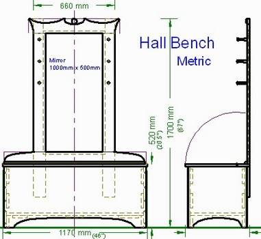 Make an Entryway or Hall Bench Plans