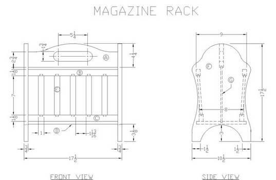 Free magazine rack plans wall mounted racks standing racks build a wood magazine rack greentooth Gallery