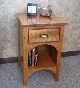 Three Drawer Bedside Table