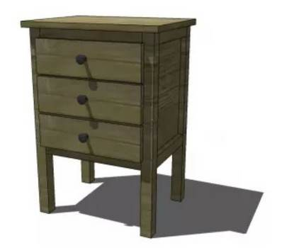 Madison Cubby Hole Night Stand