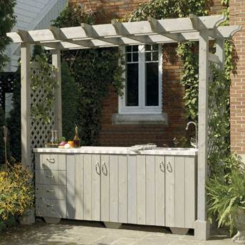 Outdoor Kitchen Plans with Pergola
