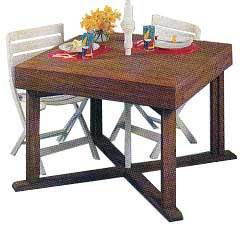 The Knock-Down & Store-Away Patio Table