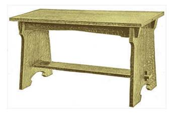 Classic Mission Style Piano Bench Plans