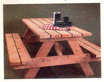 Picnic Table with Built-in Benches