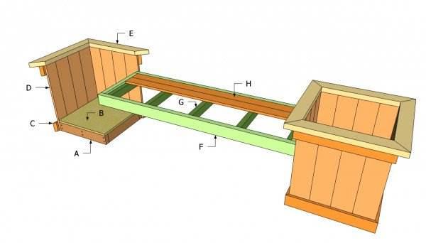 Planter Bench Plans Garden