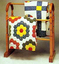 Antique Quilt Display Rack