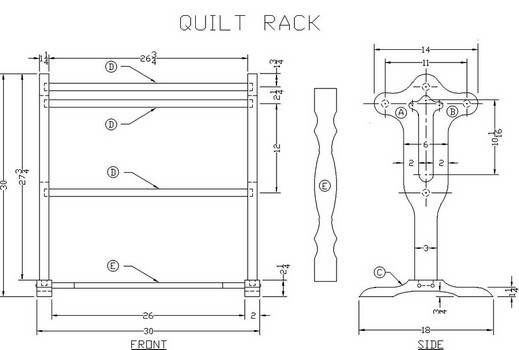 How to Build an Oak Quilt Rack