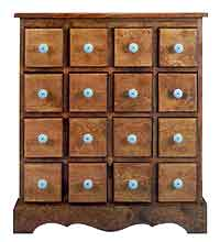 16-Drawer Apothecary Chest