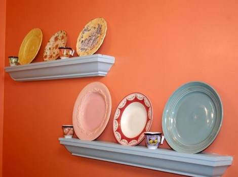 Dish Display Shelf Plans