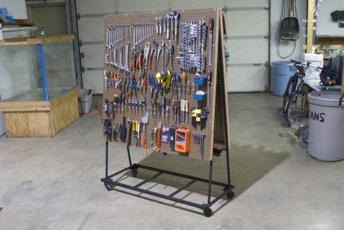 Easy Peg Board Tool Cart
