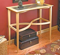 Curved Stretcher Accent Table