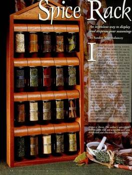 Pivoting Spice Rack