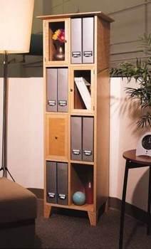 Standing Shelf Plans - Ladder Shelf Plans, Display Tower Plans