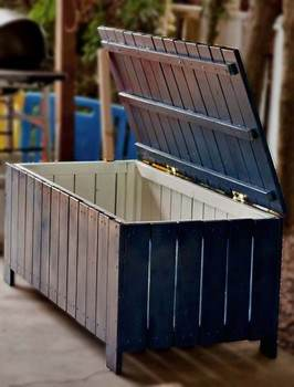 An Outdoor Storage Bench