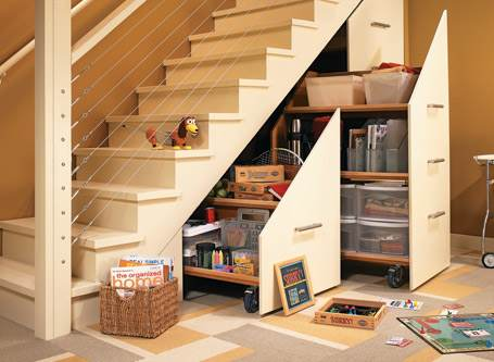 Staircase Storage Cabinet
