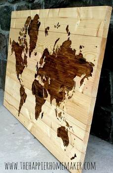 Wood World Wall Art