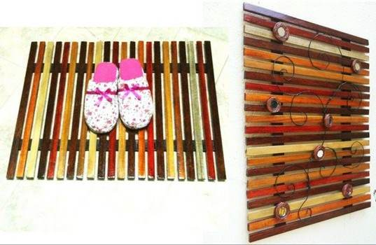 Slat Wall Art or Door Mat