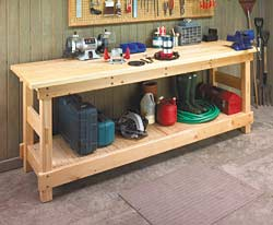 Plank top workbench