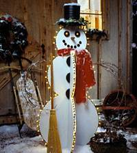 Happy Snowman Yard Art